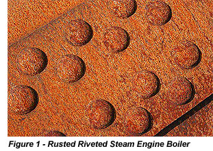Rusted Riveted Stream Engine